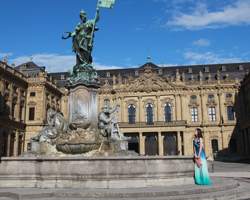 Wuerzburg, Residence, fountain, © by Bernhard Häusler, Germany